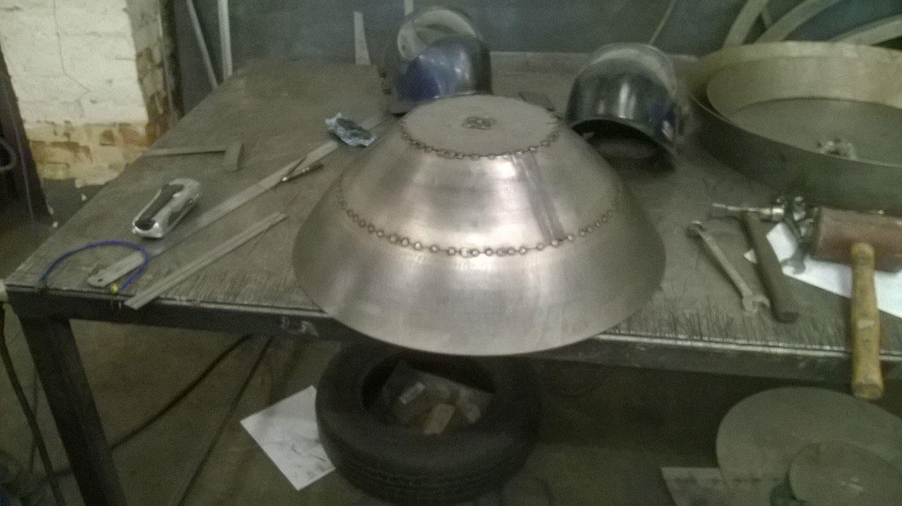 04) First two cones welded